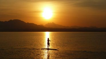Sunset Stand Up Paddling