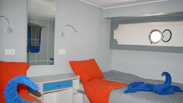 Modern equipped cabins